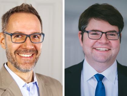 Tomislav Bodrozic (CEO Fabula Games GmbH) & Volker Oberkircher